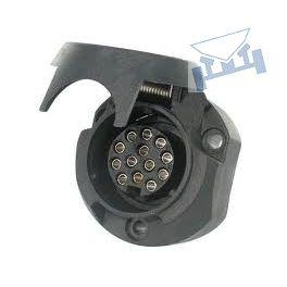 Stekkerdoos autodeel 13-polig Jäger zwart kunststof