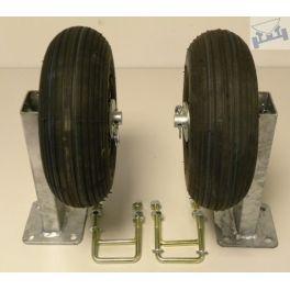 Centreerset voor montage achteraf kokerhoogte 60 mm enkel wiel.